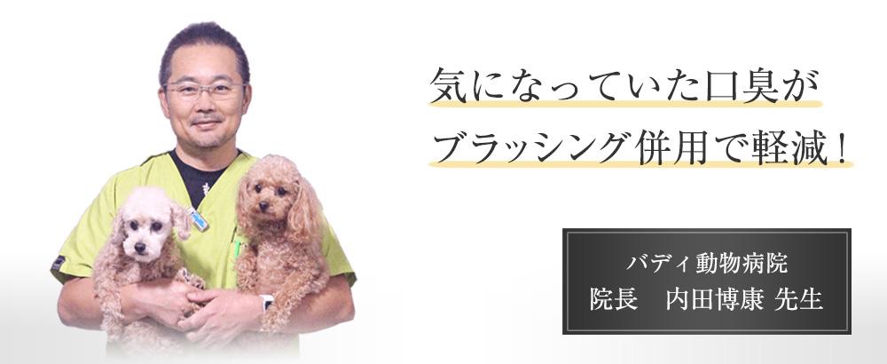 気になっていた口臭がブラッシング併用で軽減! バディ動物病院 院長 内田博康先生